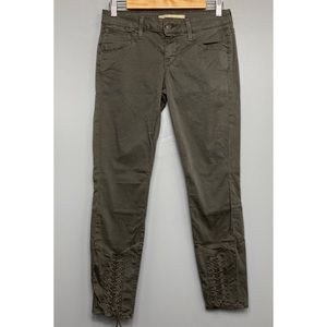VINCE Whipped Lace Up Skinny Pants in Mink